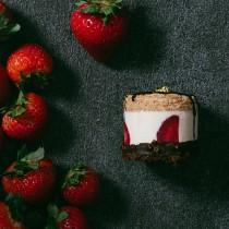 【樂樂甜點】◭4盒 免運費 ◭草莓脆皮提拉米蘇 (9入/盒)