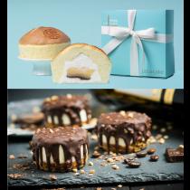 【小明星大跟班】好評推薦! 樂樂爆漿雞蛋布丁蛋糕(6吋/盒)+脆皮提拉米蘇1盒